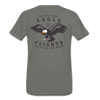 Spider Lake Eagle Flights T-Shirt - asphalt gray
