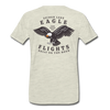 Spider Lake Eagle Flights T-Shirt - heather oatmeal