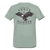 Spider Lake Eagle Flights T-Shirt - steel green