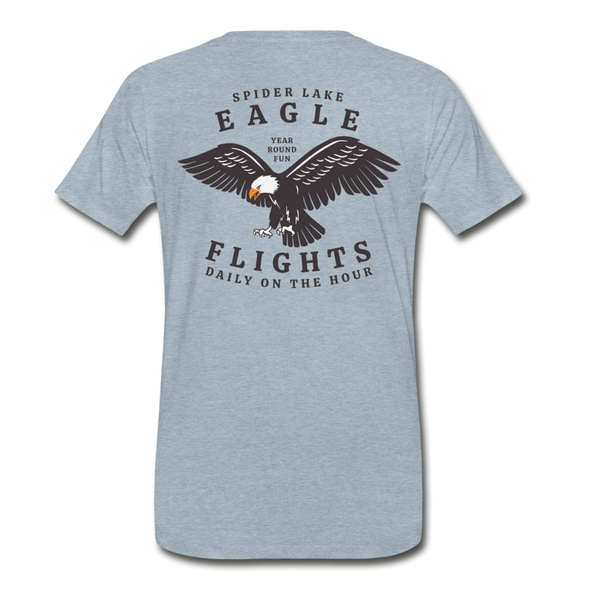 Spider Lake Eagle Flights T-Shirt - heather ice blue