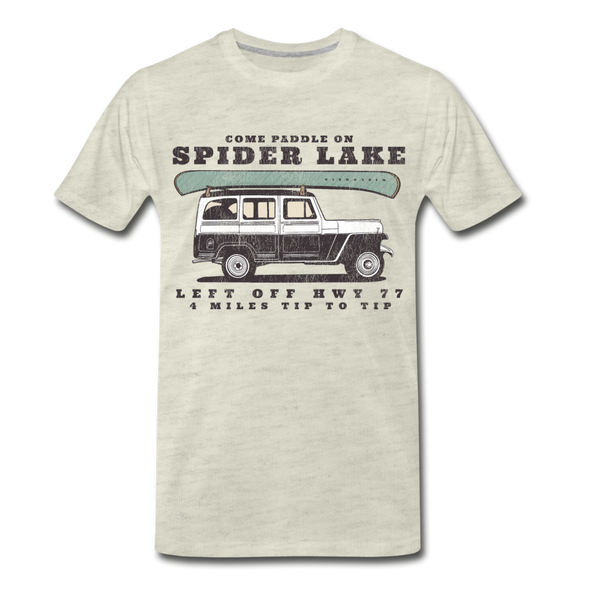 Come Paddle on Spider Lake Vintage T-Shirt - heather oatmeal