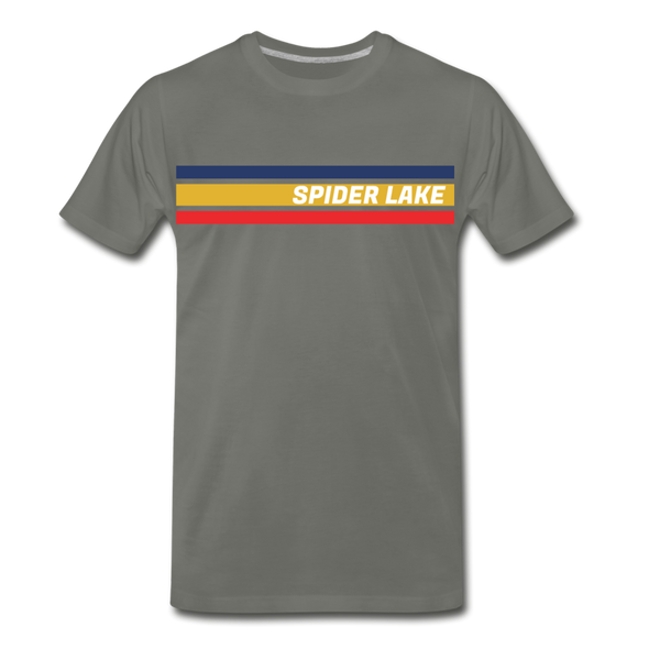 Retro Spider Lake T-Shirt - asphalt gray
