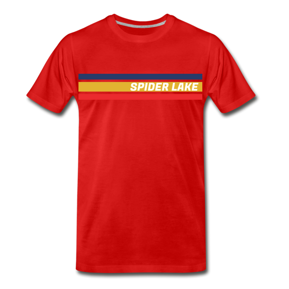 Retro Spider Lake T-Shirt - red