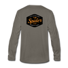 Spider Lake Majestic Musky Long Sleeve T-Shirt - asphalt gray