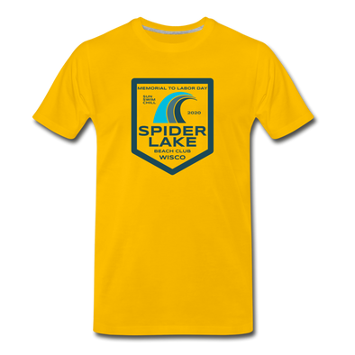 Spider Lake Beach Club T-Shirt - sun yellow