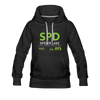 Spider Lake 54843 Airport Code Women's Hoodie - black