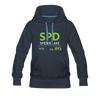 Spider Lake 54843 Airport Code Women's Hoodie - navy