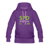 Spider Lake 54843 Airport Code Women's Hoodie - purple