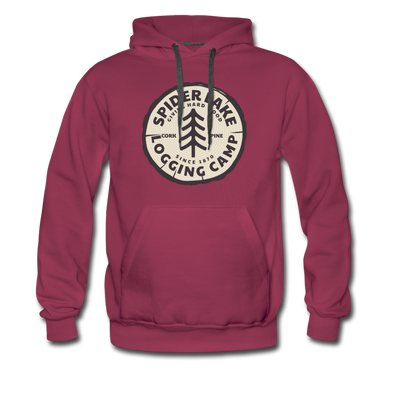 Spider Lake Logging Camp Hoodie - burgundy
