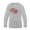 Fresh Catch Daily Spider Lake Long Sleeve T-Shirt - heather gray