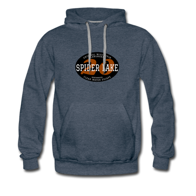 Spider Lake Original Wisconsin Landmark Hoodie - heather denim