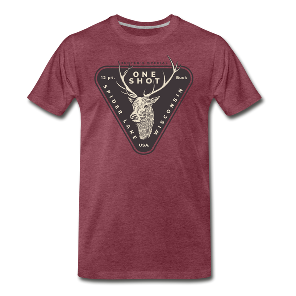 Hunters Special Spider Lake Wisconsin T-Shirt - heather burgundy