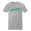 Vintage Spider Lake Summer Bright Green Premium T-Shirt - heather gray