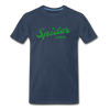 Vintage Spider Lake Summer Bright Green Premium T-Shirt - navy