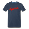 Spider Lake Vintage Summer Bright Red Premium T-Shirt - navy