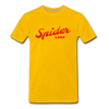 Spider Lake Vintage Summer Bright Red Premium T-Shirt - sun yellow