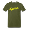 Spider Lake Vintage Summer Bright Yellow Premium T-Shirt - olive green