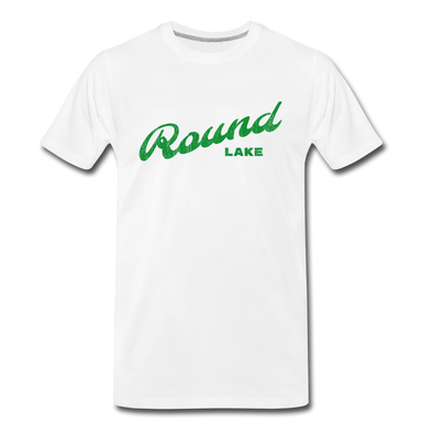 Vintage Round Lake Summer Bright Green Premium T-Shirt - white