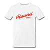 Vintage Round Lake Summer Bright Red Premium T-Shirt - white