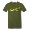 Vintage Round Lake Summer Bright Yellow Premium T-Shirt - olive green