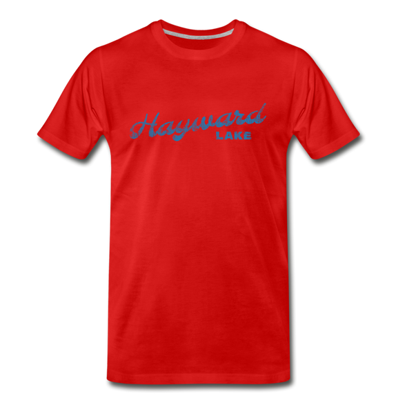 Vintage Hayward Lake Summer Bright Blue Premium T-Shirt - red