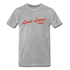 Vintage Lost Land Lake Summer Bright Red Premium T-Shirt - heather gray