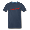 Vintage Lost Land Lake Summer Bright Red Premium T-Shirt - navy