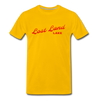 Vintage Lost Land Lake Summer Bright Red Premium T-Shirt - sun yellow