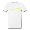 Vintage Lost Land Lake Summer Bright Yellow Premium T-Shirt - white