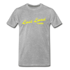 Vintage Lost Land Lake Summer Bright Yellow Premium T-Shirt - heather gray