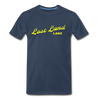 Vintage Lost Land Lake Summer Bright Yellow Premium T-Shirt - navy