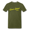 Vintage Lost Land Lake Summer Bright Yellow Premium T-Shirt - olive green
