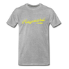 Vintage Hayward Lake Summer Bright Yellow Premium T-Shirt - heather gray