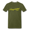 Vintage Hayward Lake Summer Bright Yellow Premium T-Shirt - olive green