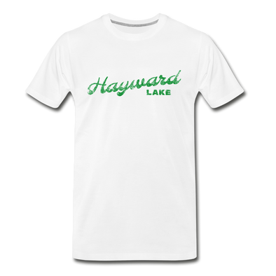 Vintage Hayward Lake Summer Bright Green Premium T-Shirt - white