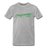 Vintage Hayward Lake Summer Bright Green Premium T-Shirt - heather gray