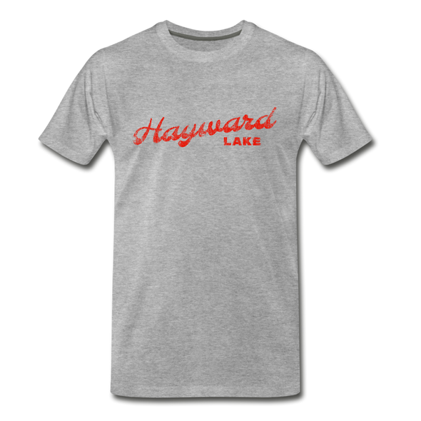 Vintage Hayward Lake Summer Bright Red Premium T-Shirt - heather gray
