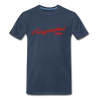 Vintage Hayward Lake Summer Bright Red Premium T-Shirt - navy