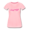 Vintage Hayward Lake Summer Bright Fuchsia Women's Premium T-Shirt - pink