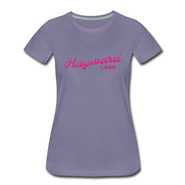Vintage Hayward Lake Summer Bright Fuchsia Women's Premium T-Shirt - washed violet