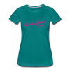 Vintage Lost Land Lake Summer Bright Fuchsia Women's Premium T-Shirt - teal