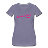 Vintage Lost Land Lake Summer Bright Fuchsia Women's Premium T-Shirt - washed violet
