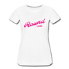 Vintage Round Lake Summer Bright Fuchsia Women's Premium T-Shirt - white