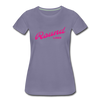 Vintage Round Lake Summer Bright Fuchsia Women's Premium T-Shirt - washed violet