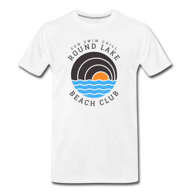 Round Lake Beach Club Premium T-Shirt - white