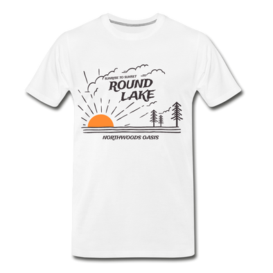 Round Lake Northwoods Oasis Premium T-Shirt - white