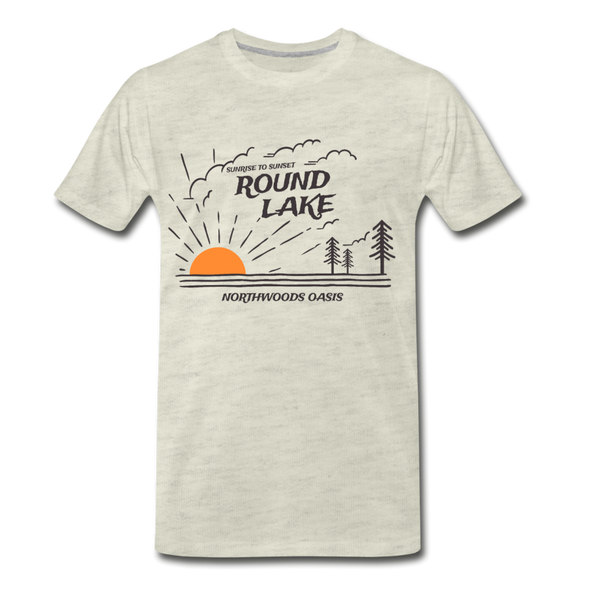 Round Lake Northwoods Oasis Premium T-Shirt - heather oatmeal