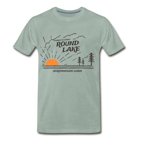 Round Lake Northwoods Oasis Premium T-Shirt - steel green