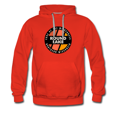 Round Lake Edge of Wilderness Premium Hoodie - red