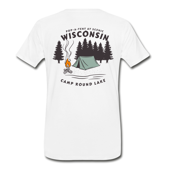 Camp Round Lake Wisconsin Premium T-Shirt - white